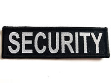 EMBROIDERED SECURITY PATCH sew on cloth badge large black work hat jacket coat