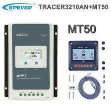EPEVER 30A MPPT Solar Laderegler 12V/24V Auto PV 100V Negative Ground+MT50 Meter