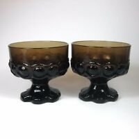 Franciscan MADEIRA SMOKE BROWN Sherbet Champagne Glasses Set of 2 Glass