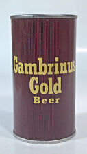 Vintage Gambrinus Gold 12oz Straight Steel Can Pittsburgh Mistake Upside Down