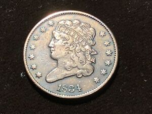 1834 Capped Bust Half Cent
