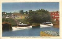 Gananoque Ontario Thousand Island Cruise Boats Postcard