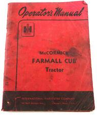 McCormick Farmall Cub Tractor Operators Manual 1955 IH Pre-owned Free Shipping