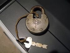 Antique Vintage F-S HDW Co. Inc. Old Padlock with Key