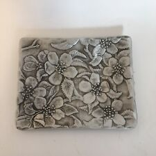 The Forge Floral Metal Dish Hammered Aluminum