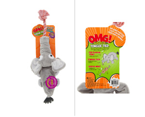 """OMG! SURPRISE™ 2-in-1 Dog Toy """"Tongue Tied""""Eleph Plush,Tug RopeToy,Rip it up!"""