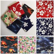 "5pcs 18""X30"" Hawaii Pattern Cotton Fabric Kids-Clothes Bag Patchwork Quilt F18-7"