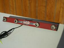 Vintage Mid Century Deco Acme Mov-E-Lite 4 Light Movie LIghtbar Red Works
