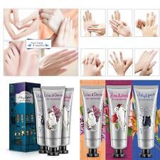 3Pcs x 30g Lily Rose Lilac Hand Cream Set Plants Essence Moisturizing Cream UK