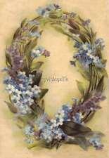 """Vintage Victorian Klein Floral Letter Initial """"Q""""  2"""" x 3"""" Fridge Magnet"""