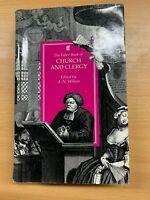 """1992 1ST EDITION """"THE FABER BOOK OF CHURCH AND CLERGY"""" LARGE HARDBACK BOOK"""