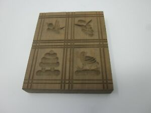 Wooden cookie mold