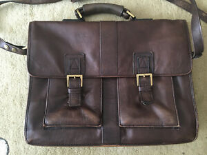 HIDESIGN. brown Leather Briefcase Bag