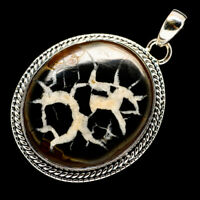 "Septarian Nodule 925 Sterling Silver Pendant 2"" Ana Co Jewelry P710292F"