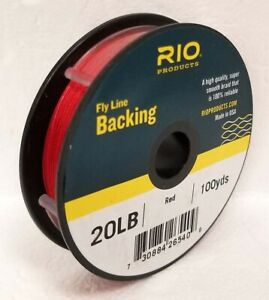 RIO 20 LB 100 YARD SPOOL OF DACRON BACKING IN RED FLY LINE & REEL BACKING