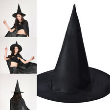 2018 Adult Witch Hat For Halloween Costume Accessory Steeple Disfraces Black*`