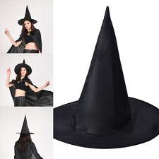 Erwachsene Schwarzer Hexenhut Kinder Hexe Hut Halloween Kostüm Zubehör NEU
