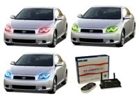 for Scion tC 05-07 RGB Multi Color WIFI LED Halo kit for Headlights