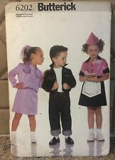Butterick 6202 1950s Costume Pattern Happy Days Waitress Fonz Sizes 2-8  UNCUT
