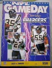 NFL Gameday Magazine Program Indianapolis Colts vs San Diego Chargers 10/18/1992