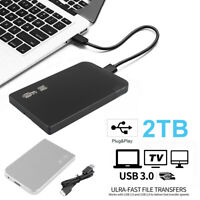 "2TB USB 3.0 Portable 2.5"" External Hard Drive Disk Ultra Slim For Laptop"