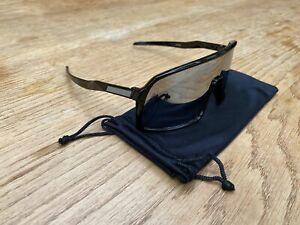 Retro Style Cycling Sunglasses Black Mirror
