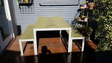 Freedom Furniture 3pc Outdoor Dining Setting Table & Benches