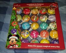 Hallmark Disney Countdown to Christmas Fillable Ornament Set