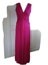Ladies Pink M&S Jersey MAXI Dress SIZE 12
