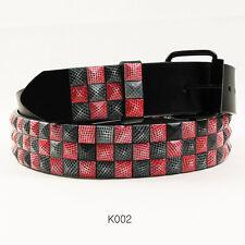 Metal Studded Leather Stud Designed Belt Pyramid Punk Rock Mens Womens Gift