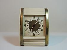 Vintage 1940's Westlox Rolltop Traveling Alarm Clock  Wind Up - Made in USA