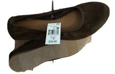 NWT FALLS CREEK Slip On Shoes SIZE 7 Womens Chocolate Brown Ballet Flats