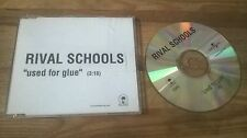 CD Punk Rival Schools - Used For Glue (1 Song) Promo ISLAND sc