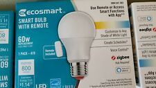 NEW Ecosmart Smart Bulb With Remote Zigbee 60w A19 *Pack of 10*