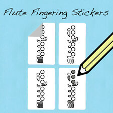 Flute Fingering Stickers! Fun for kids and teachers! 250 Stickers