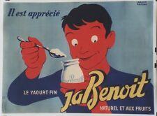 """""""YAOURT J.A BENOIT"""" Affiche originale entoilée Litho Roland ANSIAU 160x121cm"""