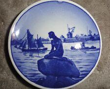 "Royal Copenhagen Denmark Blue Mermaid Langelinie 3"" Plate*"