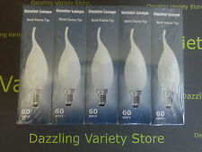 10x E14 60W Flame Tip Bent Candle FROST Lamp Light Bulb 240V Dimmable SES Joblot
