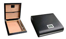 The Marquis Black Leather Travel Cigar Humidor Case Holds 20 Cigars