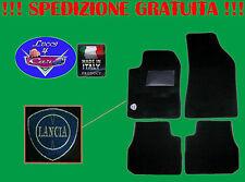 TAPPETINI tappeti Lancia Y (1996-2003) con ricami e battitacco in gomma