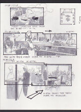 SOME KIND OF WONDERFUL '87 MOVIE ORIGINAL STORYBOARD ART ALDANA BBQ RESTAURANT