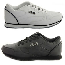 Hombre Negro Blanco Con Cordones Correr Zapatillas Gimnasio Casual Comfort Sports Zapatos UK