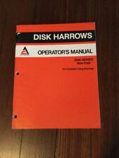 Allis Chalmers 2500 Series Disk Harrows Operators Manual Ac 56 Pgs
