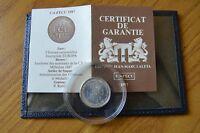 CONFEZIONE MONETA 1/4 ECU 1987  ARGENTO EUROPA con certificato SUBALPINA Z