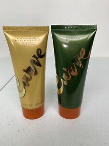 CURVE - Aftershave Balm & Shower Gel for Men - 3.4 FL OZ each - NEW Unopened