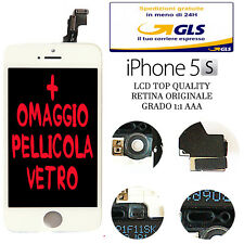 LCD COMPLETO PER APPLE IPHONE 5S BIANCO CON DISPLAY RETINA ORIGINALE FRAME AAA