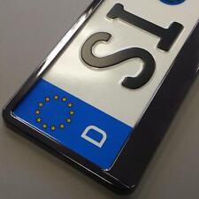 2 Stück schwarz Hochglanz metallic Optik Kennzeichenhalter Nummernschildhalter