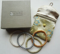 MIB HONORA collection 4 FRESH WATER CULTURED PEARL stretch BRACELETS -ONE PRICE!