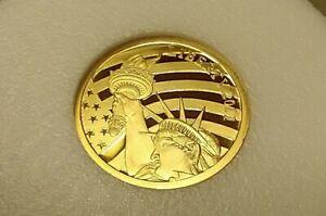 2011 Cook Islands $5 1/10 oz .24 GOLD content 24% Statue Liberty .240 Fine Coin