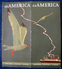 S.S. AMERICA Brochure, 1928 -- United States Lines